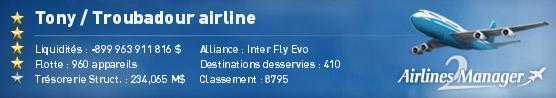 Troubadour airline 3109