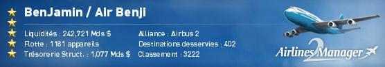 Candidature Air Benji 57800